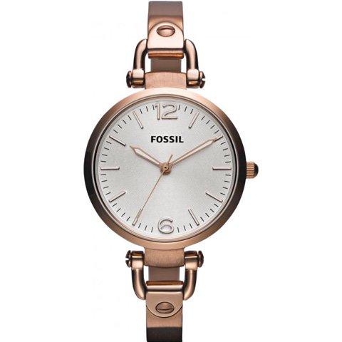 フォッシル 腕時計 レディース ジョージア ES3110 シルバー×ローズゴールド