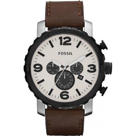 フォッシル 腕時計 メンズ ネイト JR1390  ベージュ×ブラウン