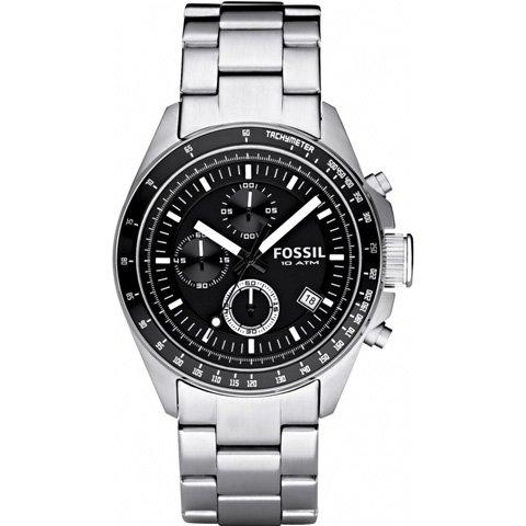 フォッシル 腕時計 メンズ デッカー  CH2600    ブラック×シルバー