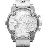 ディーゼル 腕時計 リトルダディー DZ7265 ホワイト×ホワイトレザーベルト