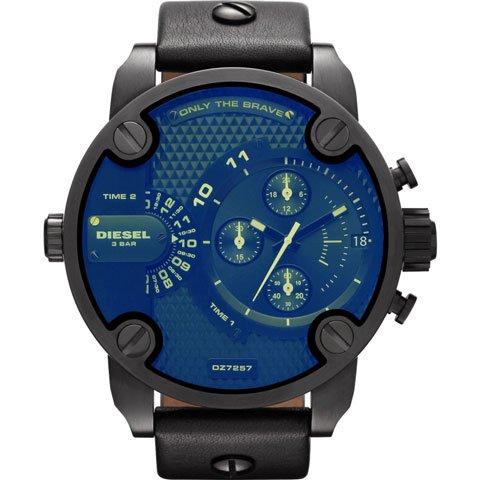 Diesel(ディーゼル) 腕時計 リトルダディー DZ7257 ブラック×ブラックレザー