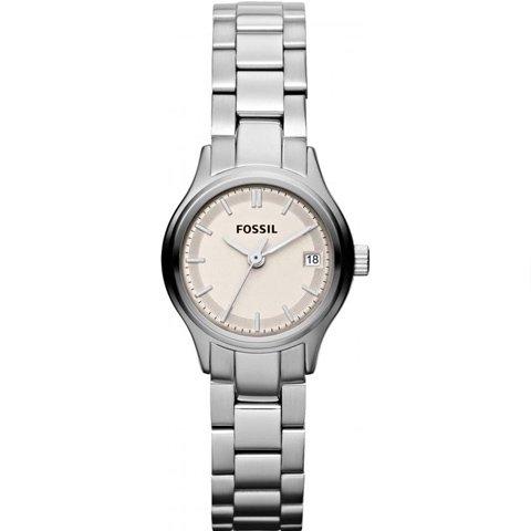 フォッシル 腕時計 レディース ミニアーカイバル ES3165 ベージュ×シルバー