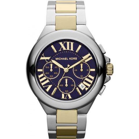 マイケルコース 時計 カミーユ MK5758  ブルー×シルバー×ゴールド