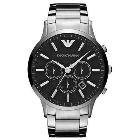 エンポリオアルマーニ/Emporio Armani/腕時計/メンズ/Sportivo/スポルティーボ/AR2460/クォーツ/クロノグラフ/ブラック×シルバー