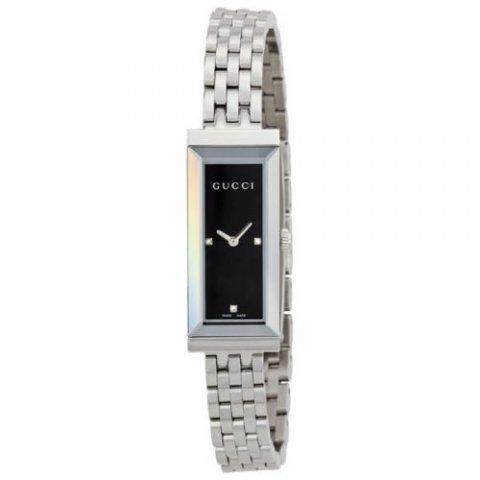 グッチ 腕時計 レディース G-フレーム YA127504 ブラック×シルバー