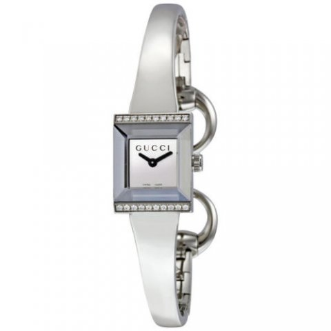 グッチ 腕時計 レディース G-フレーム YA128504 シルバー×シルバー