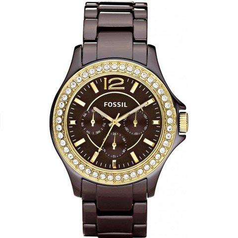 フォッシル 腕時計 レディース ライリー CE1044 ブラウン×ブラウン