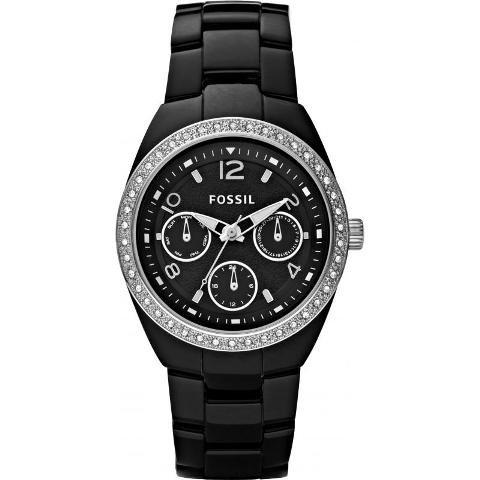フォッシル 腕時計 レディース CE1043 ブラック×ブラック