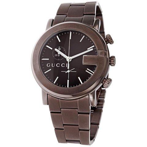 グッチ 腕時計 メンズ G-クロノ YA101341 ブラウン×ブラウン