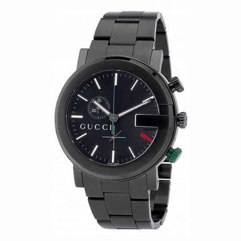 グッチ 腕時計 メンズ 101G クロノグラフ YA101331 ブラック×ブラック