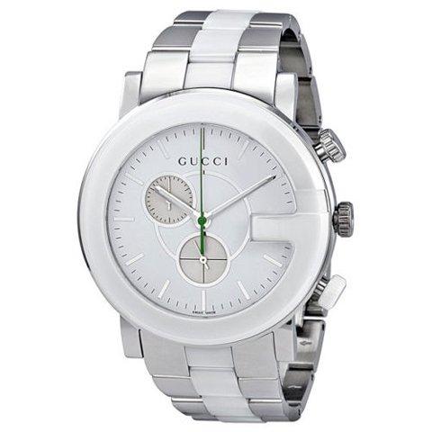 グッチ 腕時計 メンズ Gータイムレス クロノグラフ YA101345 ホワイト×シルバー×ホワイト