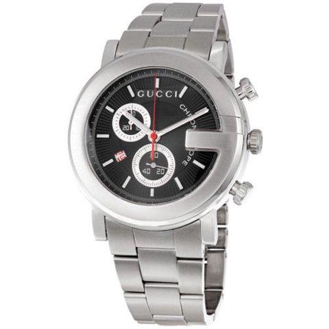 グッチ 腕時計 メンズ 101G クロノグラフ YA101309 ブラック×シルバー