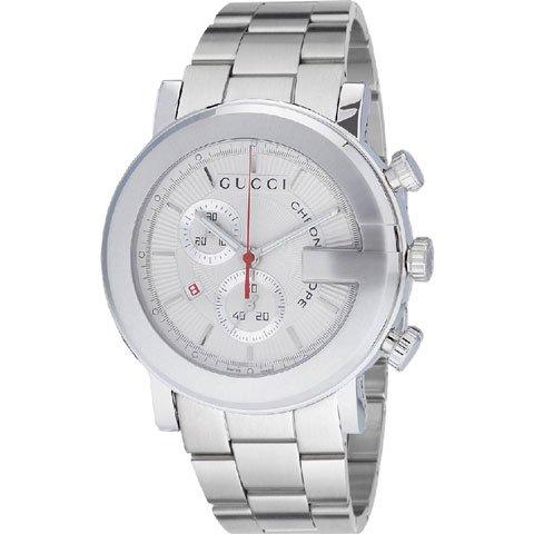 グッチ 腕時計 メンズ 101G クロノグラフ YA101339 シルバー×シルバー