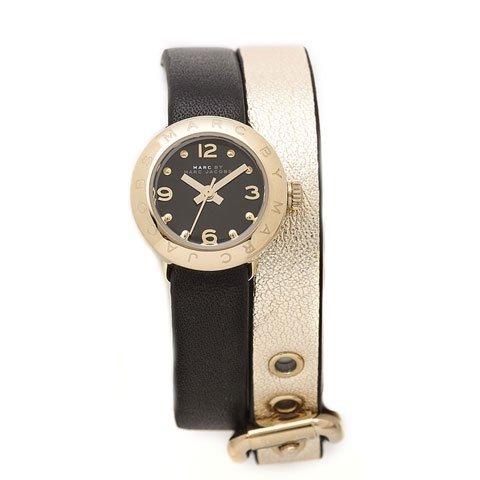 マークバイマークジェイコブス 腕時計 レディース エイミー ディンキー MBM1257 ゴールド×ブラック ダブルストラ…
