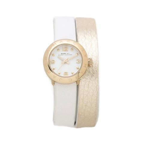 マークバイマークジェイコブス 腕時計 レディース エイミーディンキー MBM1255 ゴールド×ホワイト ダブルストラ…