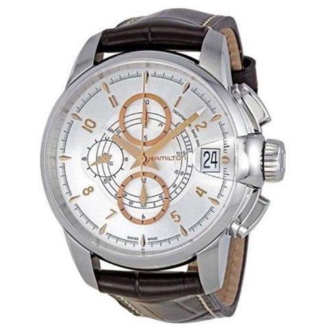 ハミルトン 腕時計 タイムレスクラシック レイルロード H40616555 シルバー×ダークブラウンレザー