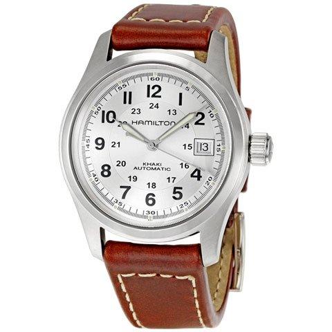 ハミルトン 腕時計 カーキフィールド H70455553 シルバー×ブラウン