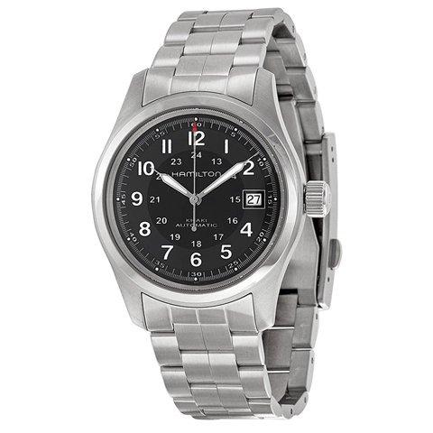 ハミルトン 腕時計 カーキフィールド オート H70455133 ブラック×シルバー