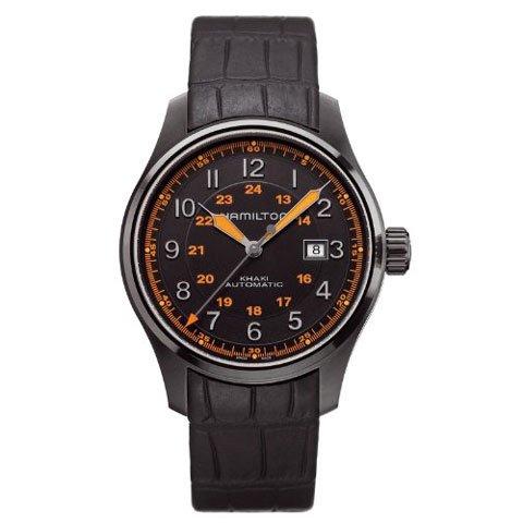ハミルトン 腕時計 カーキフィールド オート H70685337 ブラック×ブラック