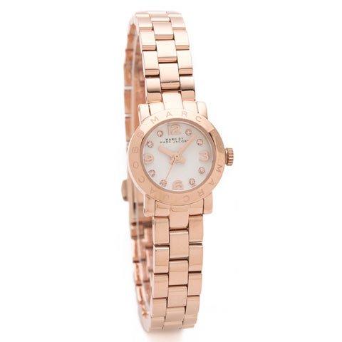 マークバイマークジェイコブス 腕時計 レディース エイミーディンキー MBM3227 ローズゴールド×ホワ…