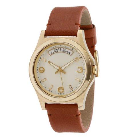 マークバイマークジェイコブス 腕時計 メンズ ベイビーデイブ MBM1261 ゴールド×ブラウンレザー