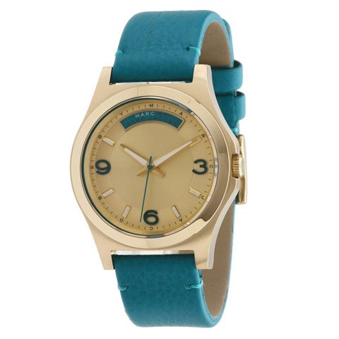 マークバイマークジェイコブス 腕時計 メンズ ベイビーデイブ MBM1263 ゴールド×ティールレザー