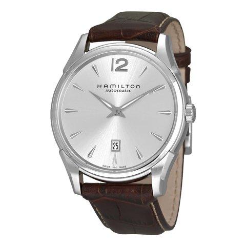 ハミルトン 腕時計 ジャズマスター スリム H38615555 シルバー×ブラウンレザーベルト
