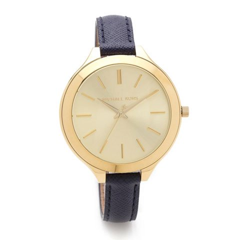 マイケルコース 時計 スリムランウェイ MK2285 ゴールド×ネイビー