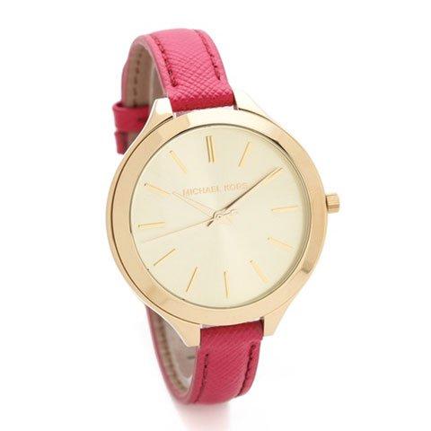 マイケルコース 時計 スリムランウェイ  MK2298 ゴールド×ピンク
