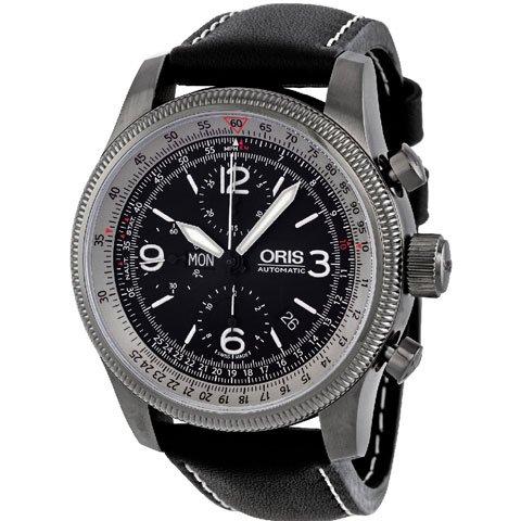オリス 腕時計 ビッグクラウン カルキュレイター  675 7648 4264LS ブラック×ブラック