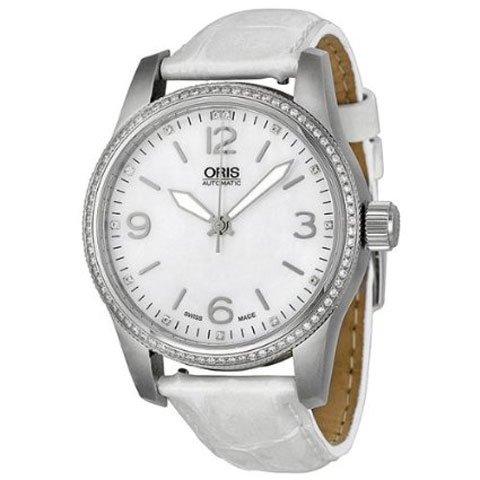 オリス 腕時計 ビッグクラウン 01 733 7649 4966 07 5 19 67 マザーオブパール×ホワイト