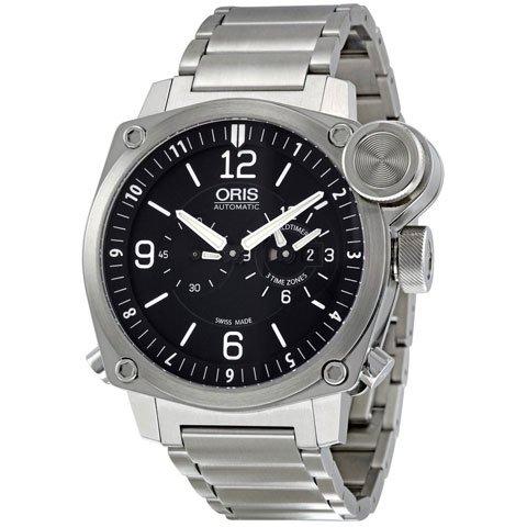 オリス 腕時計 フライトタイマー 690-7615-4164MB ブラック×シルバー