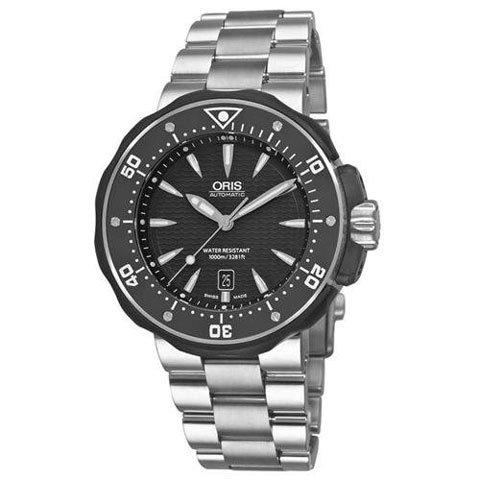 オリス 腕時計 プロダイバー 733-7646-7154MB ブラック×チタンシルバー