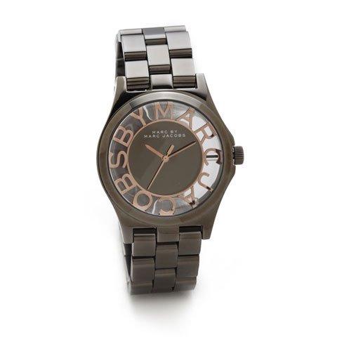 マークバイマークジェイコブス 腕時計 レディース ヘンリースケルトン MBM3254 グレー×ローズゴールド