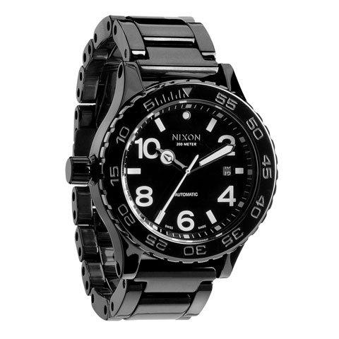 ニクソン 腕時計 42-20 セラミック A148-001 オールブラック 自動巻き