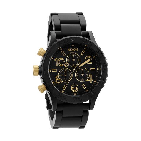 ニクソン 腕時計 42-20  クロノグラフ A0371-041 ブラック×マットブラック