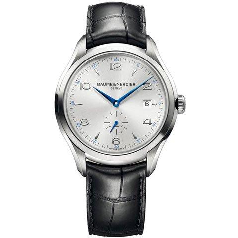 ボーム&メルシエ  腕時計 クリフトン M0A10052 オートマティック シルバー×ブラックアリゲーターストラップ