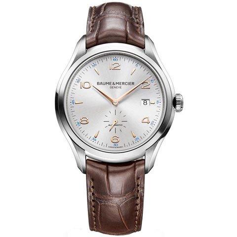 ボーム&メルシエ 腕時計 クリフトン  M0A10054 オートマティック シルバー×ブラウン