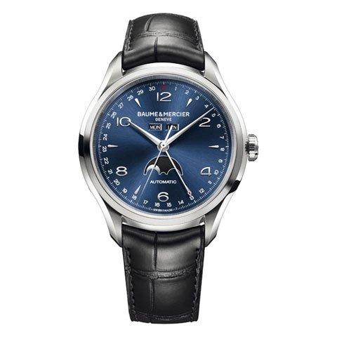 ボーム&メルシエ  腕時計 クリフトン M0A10057 コンプリートカレンダー ブルー
