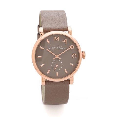 マークバイマークジェイコブス 腕時計 レディース ベイカー MBM1266 グレー×ローズゴールド