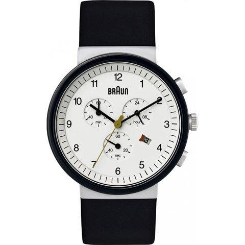 ブラウン Braun 時計/BN0035WHSLBKG/クロノグラフ/ホワイト×ブラックベゼル×ブラックレザーベルト