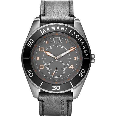 アルマーニエクスチェンジ 腕時計 メンズ AX1266 マットグレー×ブラックレザーベルト