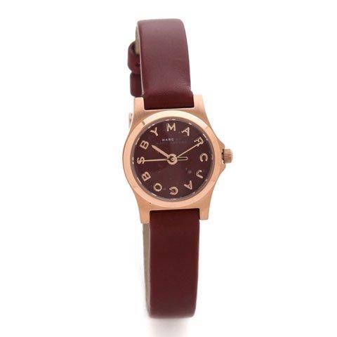 マークバイマークジェイコブス 腕時計 レディース MBM1281 ヘンリーディンキー ディープマルーン×ローズゴー…