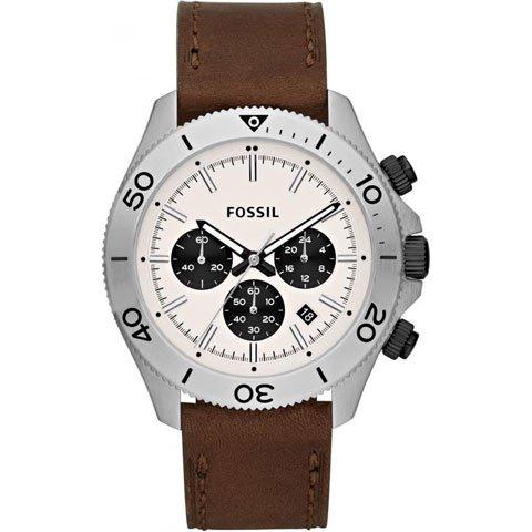 フォッシル 腕時計  メンズ レトロトラベラー CH2886  ベージュ×ブラウン