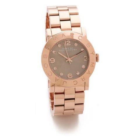 マークバイマークジェイコブス 腕時計 レディース エイミー MBM3221 ブラウン×ローズゴールド