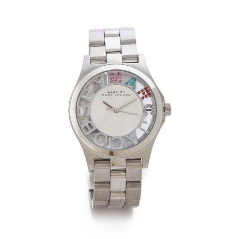 マークバイマークジェイコブス 腕時計 レディース ヘンリースケルトン MBM3262 シルバー