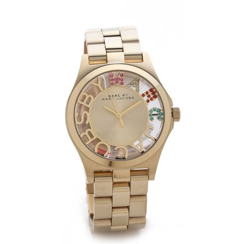 マークバイマークジェイコブス 腕時計 レディース ヘンリースケルトン MBM3263 ゴールド