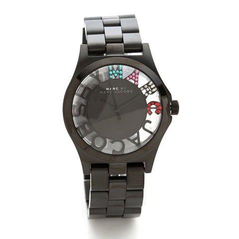 マークバイマークジェイコブス 腕時計 レディース ヘンリースケルトン MBM3265 ブラック