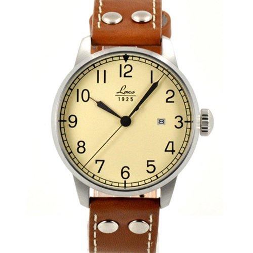 ラコ 腕時計 国内正規品 バルセロナ 自動巻 861611 ブラウンカーフレザーベルト