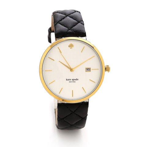 ケイトスペード 腕時計 1YRU0049 メトログランド ホワイト×ブラックレザー
